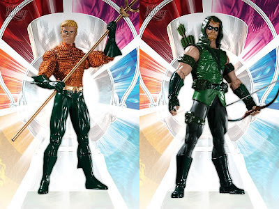Brightest Day Series 1 Action Figures by DC Direct - Aquaman and Green Arrow
