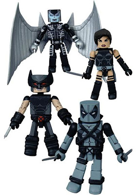 Uncanny X-Force Minimates Box Set by Diamond Select - Wolverine, Archangel, Psylocke & Deadpool