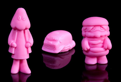 Pink Cherry Scented Mini Eraser Figures by Arbito - Seeker, Cosmic Hobo's Van & Patty Power
