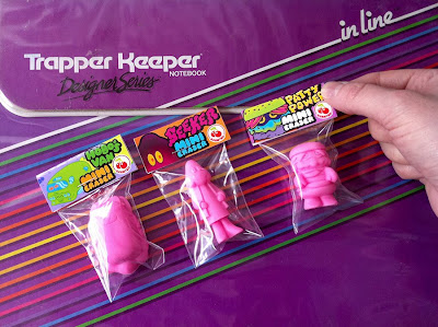 Pink Cherry Scented Mini Eraser Figures in Packaging by Arbito - Cosmic Hobo's Van, Seeker & Patty Power