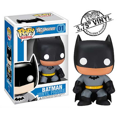 DC Universe Batman Mini Funko Force Vinyl Figures by Funko - Black and Grey Batman and Packaging
