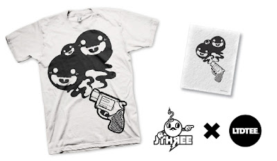 LTD Tee - Ghost Gun T-Shirt & Art Print Box Set by J3Concepts