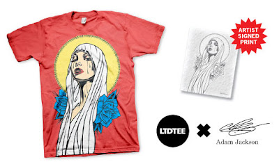LTD Tee - Saint Mary T-Shirt & Art Print by Adam Jackson