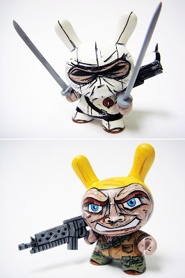 Custom G.I. Joe 3 Inch Dunny Set by Nikejerk - Storm Shadow and Duke