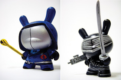 Custom G.I. Joe 3 Inch Dunny Set by Nikejerk - Cobra Commander and Snake Eyes