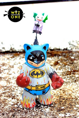 Custom Batman Possessed Vinyl Figure with Joker Demon by WuzOne