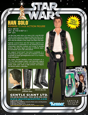 Small Head Chase Variant Han Solo 12&#8221; Jumbo Vintage Kenner Star Wars Chase Action Figure by Gentle Giant
