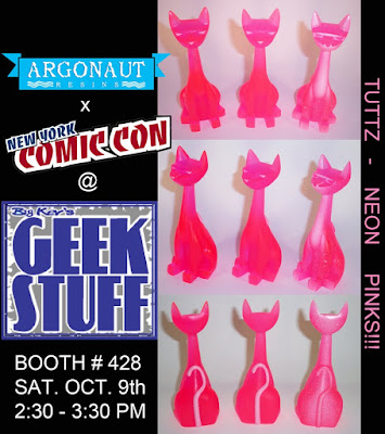 NYCC 2010 Exclusive Neon Pink Tuttz Resin Figures by Argonaut Resins