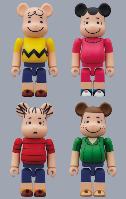 Peanuts 60th Anniversary 100% Be@rbrick Series by Medicom - Charlie Brown, Lucy, Linus & Peppermint Patty