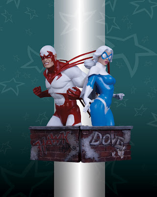 Heroes of the DC Universe: Hawk and Dove Busts by DC Direct