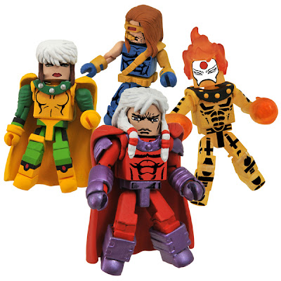 "New York Comic-Con 2010 Exclusive Age of Apocalypse Minimates Box Set 2 - Rogue, Cyclops, Magneto & Sunfire"" border="