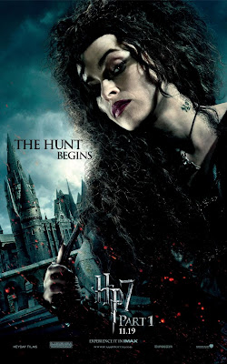 Harry Potter and the Deathly Hallows: Part I Character Movie Posters - The Hunt Begins - Helena Bonham Carter as Bellatrix Lestrange