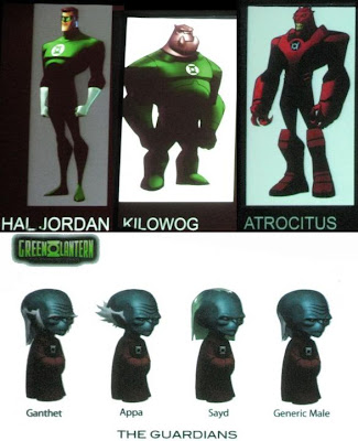 Green Lantern: The Animated Series Character Concept Art - Hal Jordan, Kilowog, Atrocitus & The Guardians