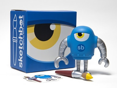 Sketchbot Blue Variant Vinyl Figure by Steve Talkowski