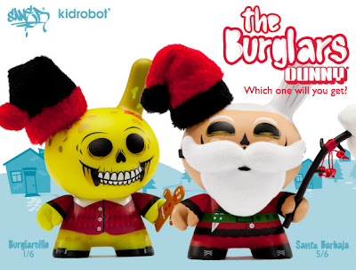 Kidrobot's 2010 Holiday Dunnys The Burglars (Santa Barbaja and Burglarcillo) by Saner