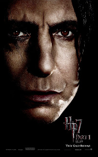 Harry Potter and the Deathly Hallows Part 1 Portrait Movie Poster Set - Alan Rickman as Severus Snape