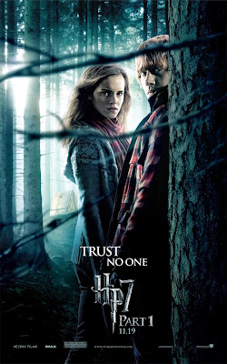 Harry Potter and the Deathly Hallows: Part I Teaser One Sheet Movie Poster - Trust No One - Emma Watson as Hermione Granger &amp; Rupert Grint as Ron Weasley
