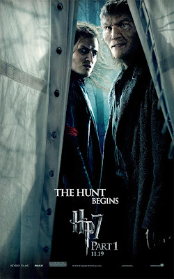 Harry Potter and the Deathly Hallows: Part I Teaser One Sheet Movie Poster - The Hunt Begins - Dave Legeno as Fenrir Greyback and a Snatcher