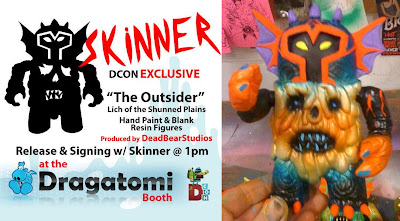 Dragatomi Designer Con Exclusive The Outsider Lich of the Shunned Plains Hand Painted Resin Figure by Skinner