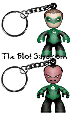 DC Universe Green Lantern Mini Mez-Itz Movie 2 Pack by Mezco Toyz - Green Lantern & Sinestro Key Chains