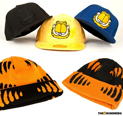 The Hundreds x Garfield Clothing & Accessory Collection - Garfield New Era Fitted Cap & Garfield Beanie