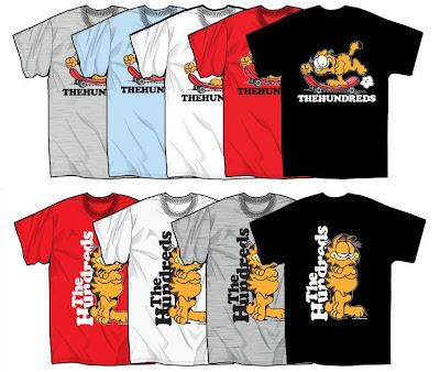 The Hundreds x Garfield Clothing &amp; Accessory Collection - Garfield Skate &amp; Garfield Basic T-Shirts