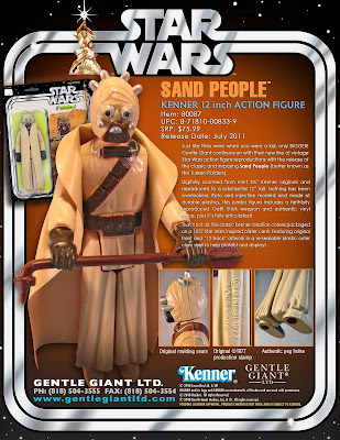 "Tusken Raider 12"" Jumbo Vintage Kenner Star Wars Action Figure by Gentle Giant"