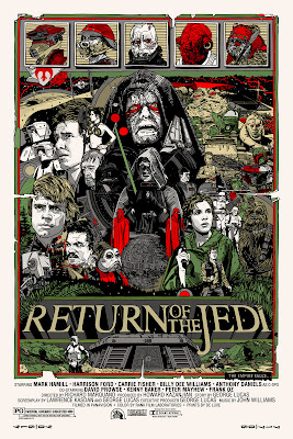 Mondo Star Wars Screen Print Series #20 - The Original Star Wars Trilogy Set by Tyler Stout - Return of the Jedi