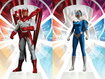 Brightest Day Series 3 Action Figures by DC Direct - Hawk and Dove