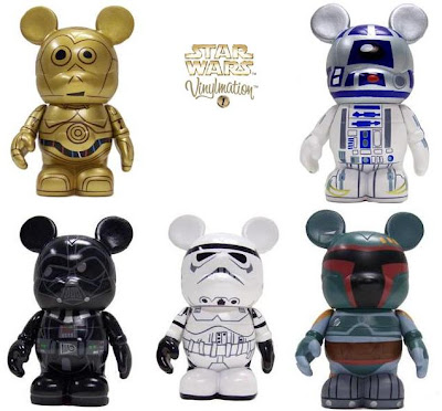 Star Wars Vinylmation Series 1 - C-3PO, R2-D2, Darth Vader, Boba Fett & Stormtrooper