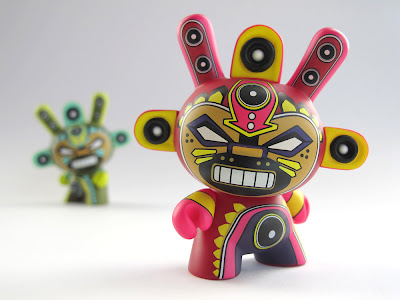 Hot Pink 3 Inch Mini-God Dunny by Marka27 - The Dunny Azteca II Series Case Incentive Giveaway