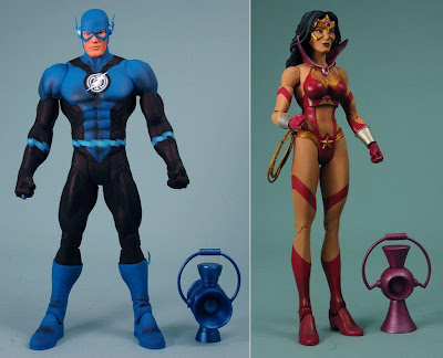 DC Universe Classics Wave 17 Blackest Night Action Figures - Blue Lantern Flash & Star Saphire Wonder Woman