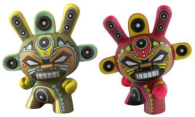 Green and Fuchsia Minigod 3 Inch Dunnys by Marka27