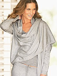 Cotton and Cashmere Sweater Wrap, $58