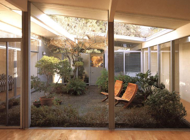 Joseph Eichler Homes on mid century modern house plans with atriums