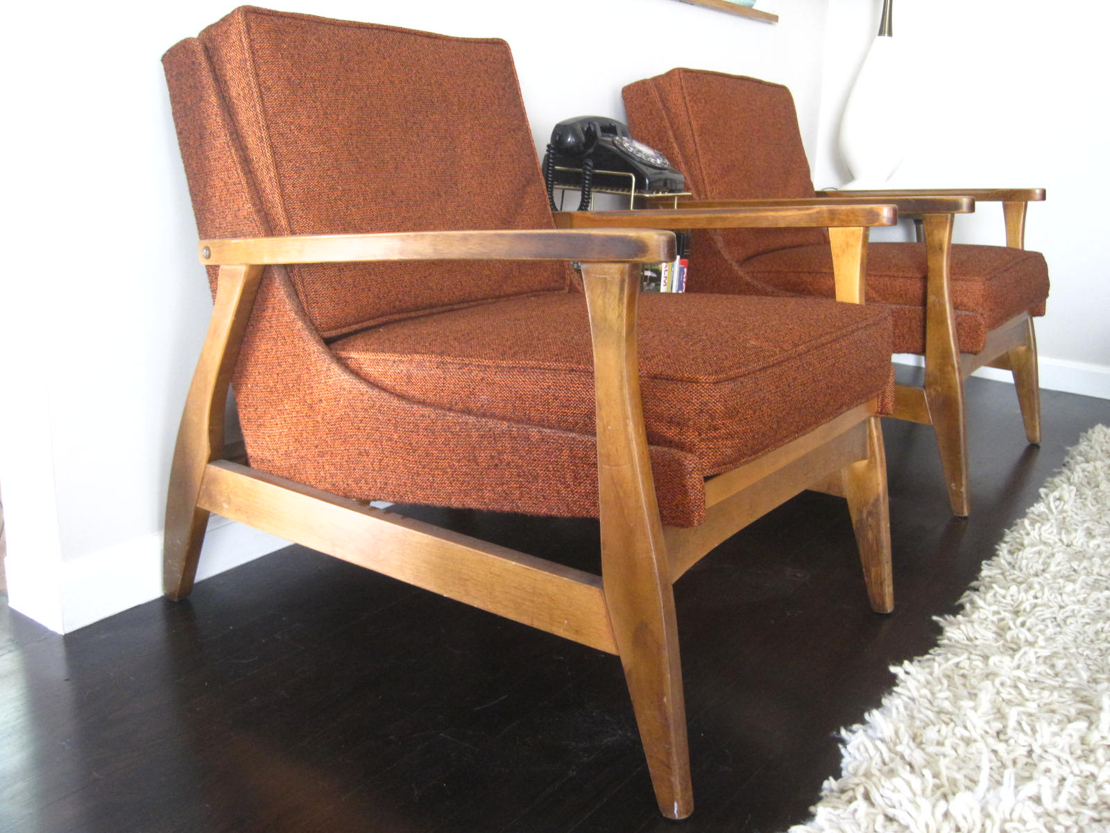 Mystery Mid Century Lounge Chairs. Photo