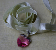 Pink Version with a pale ice mint satin ribbon