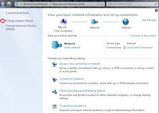 Windows 7 : Network and Sharing Center