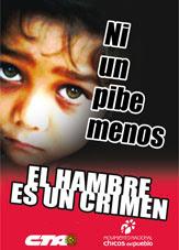 EL HAMBRE ES UN CRIMEN