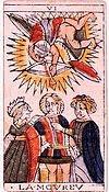 l'amoureux tarot divinatoire signification interpretation