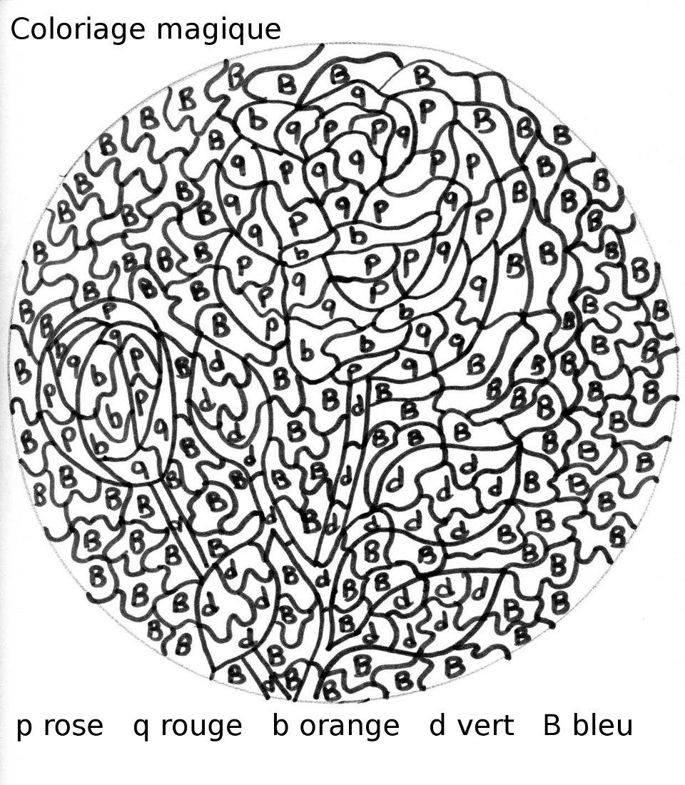 Exceptionnel Maternelle: Coloriages magiques de printemps, avec des fleurs VE88