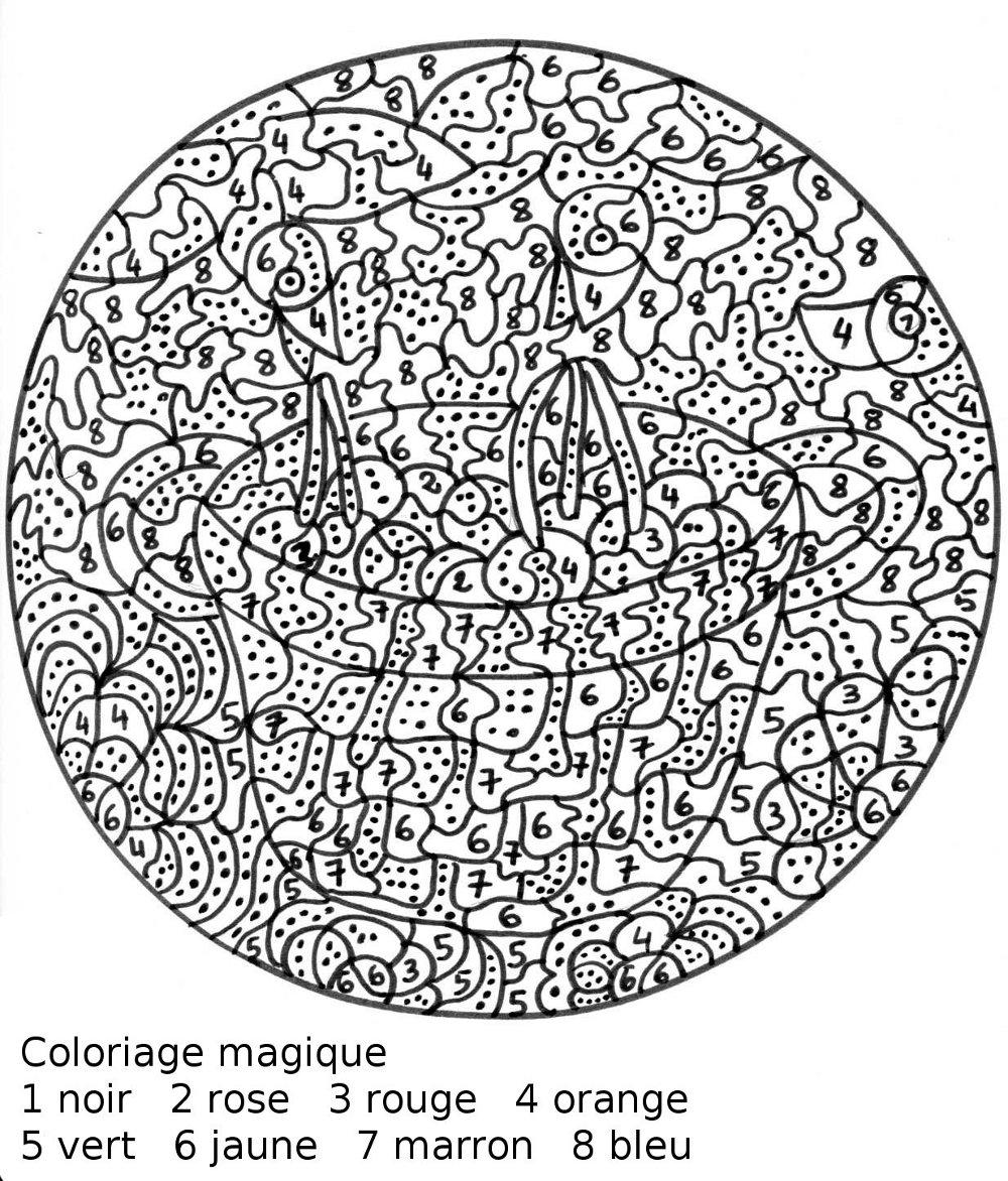 Coloriage magique fran ais liberate - Coloriage mandala printemps ...