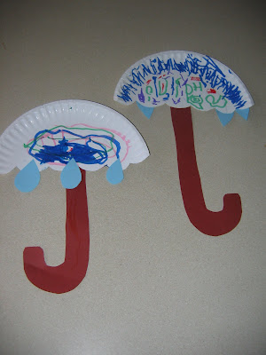 here s another umbrella craft you can make from paper plates materials