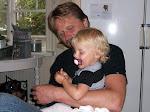 Min man krister och vårt barnbarn Nova