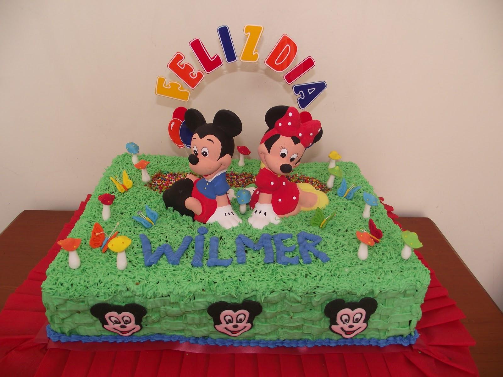 Torta de Mickey Mouse, 50 porciones.