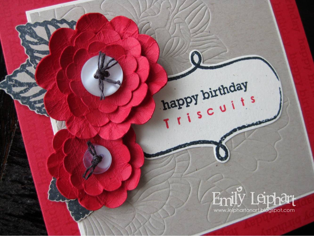 Artfromtheheart Happy Birthday Triscuits