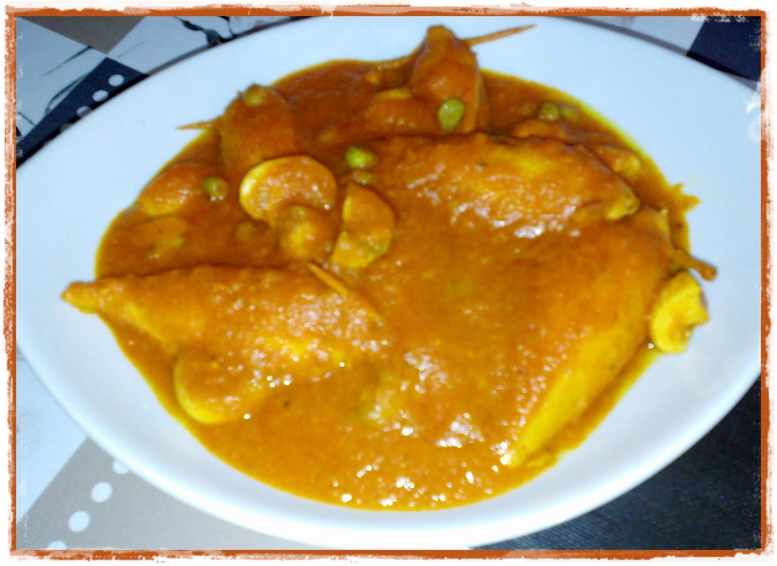 Las recetas de mariant calamares rellenos en salsa - Salsa para calamares rellenos ...