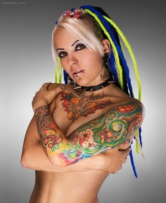 zombie girl tattoo. Hot Sexy Star Girls Tattoos.