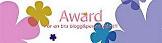 Award från Lantliv klicka på bilden så kommer ni till hennes blogg:)