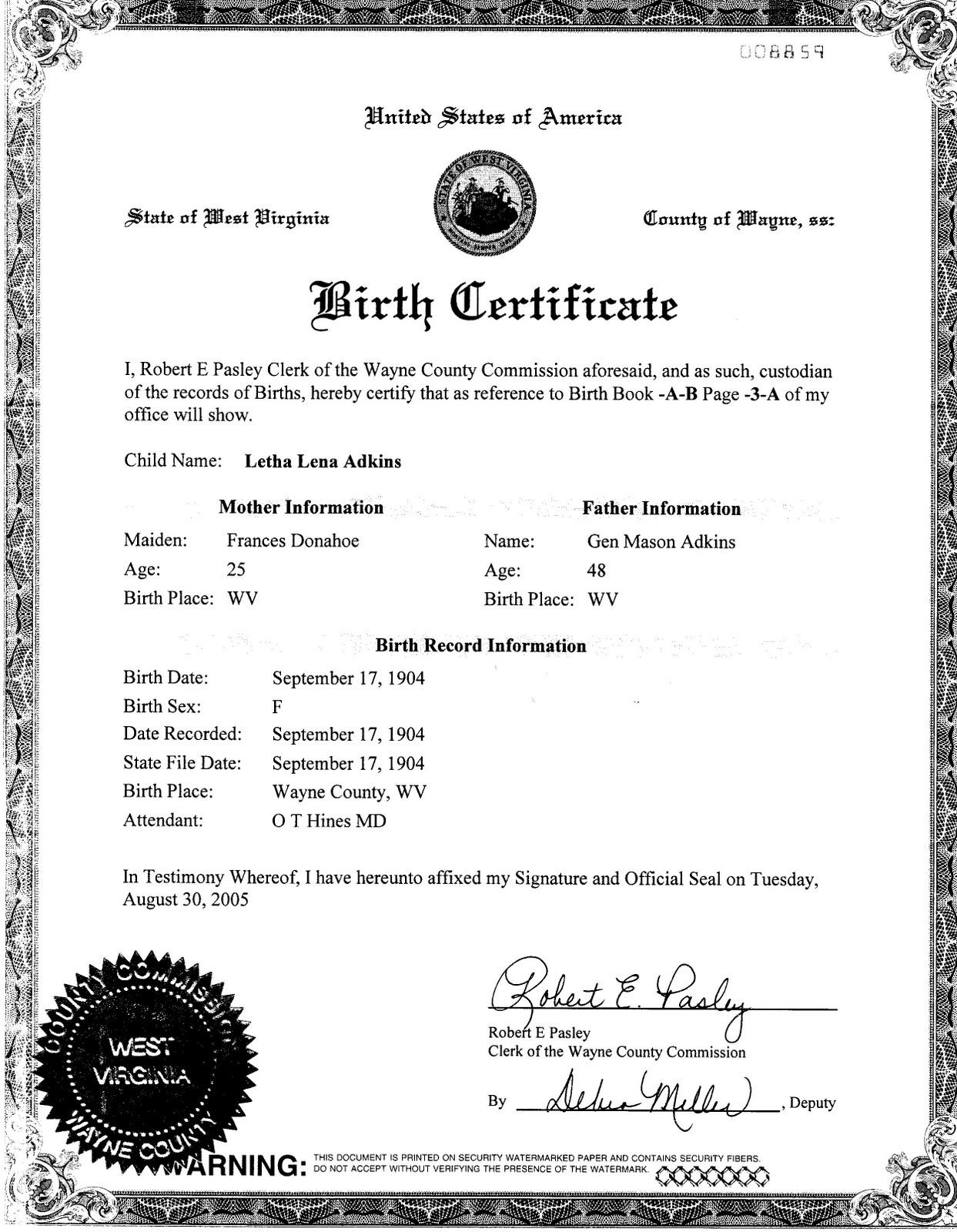 West Virginia Birth Certificate Death Vital Records Oukasfo